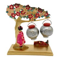 Geisha Under a Cherry Tree Salt & Pepper Shakers