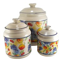 Corning Corelle Fruit Basket Canisters