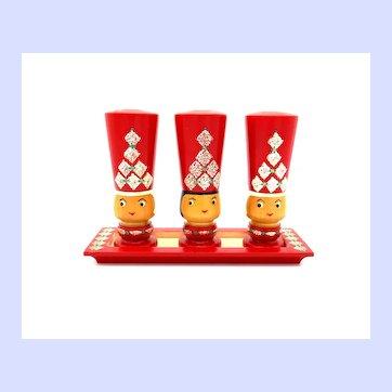 Erzgebirge Expertic GDR German Wooden Salt & Pepper Shaker Set