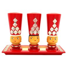 Erzgebirge Expertic GDR German Wooden Salt & Pepper Shaker Set