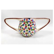 Eva Zeisel Polka Dot Art Deco Vase