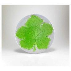 Galvani Ceramiche Pordenone 1930's Italian Maple Leaf Plate
