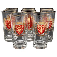 8 Libbey Heraldry Crown Collection 12 Oz. Tumblers