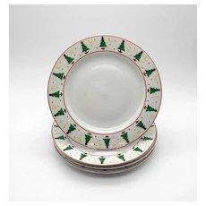4 Sakura Magic of Santa Dinner Plates