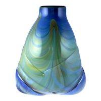 Salamandra Art Glass Vase