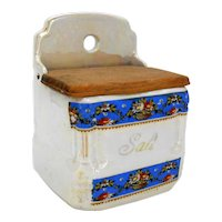 Lusterware Salt Box Victoria China Czechoslovakia