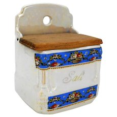 Lusterware Salt Box Victoria China Czechoslovakia