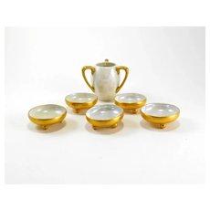TK Czechoslovakia Lusterware Salt Cellars & Toothpick Holder Set