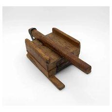 Primitive Wood Tortilla Press