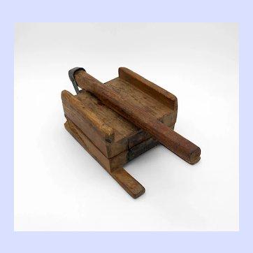 Antique Primitive Wooden Tortilla Press
