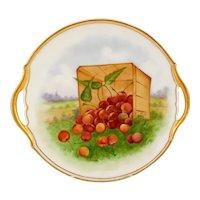 Tressemann & Vogt C. 1900's Limoges France Cherry Platter