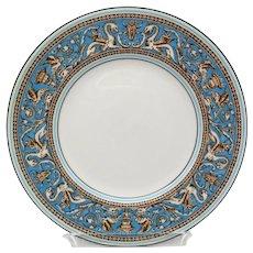 Wedgwood Florentine Turquoise Salad Plate White Center Green Mark