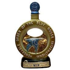 1971 Jim Beam Whiskey Decanter Order of Blue Goose