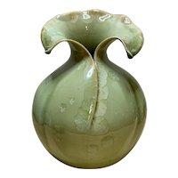 Green Crystalline Artisan Vase