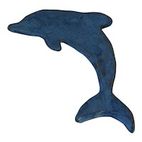 Artisan Blue Dolphin Wall Art or Trinket Dish