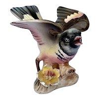 Vintage CDGC Redstart Porcelain Bird