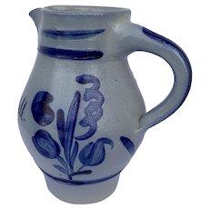 German Salt-Glaze Stoneware 1/2 Liter pitcher