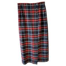 Vintage Pendleton Tartan Wool Pencil Skirt Size 10