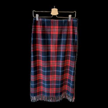 Vintage Tartan Wool Pendleton Plaid Skirt Size 10