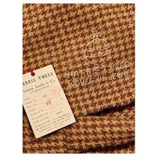 Vintage Harris Tweed Houndstooth Fabric