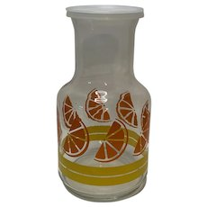 Mid-Century Modern Libbey Of Canada Glass Orange Juice Carafe
