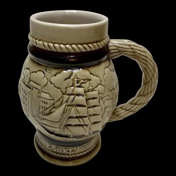 Vintage Miniature Avon Nautical Ceramic Stein