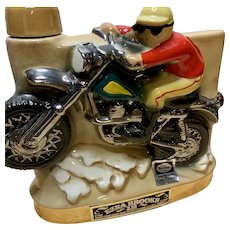 1972 Ezra Brooks Whiskey Motorcycle Decanter