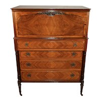 1900s Antique The Widdicomb Furniture CO French Louis XV carved Walnut Dresser