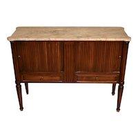 1940s Johnson Furniture Grand Rapids MI Mahogany marble top server / TV stand