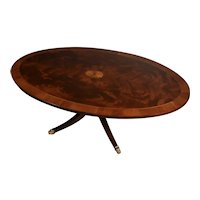 1920 Hekman English Regency Mahogany & satinwood inlay coffee Table
