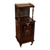 19th Century Antique English Edwardian Rosewood inlaid Stand Coal Purdonium