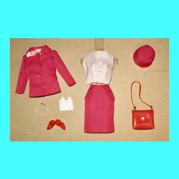 Japanese Exclusive Barbie Outfit #2639 Cranberry Suit