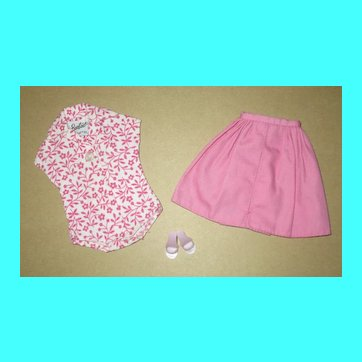 Japanese Exclusive Barbie Pink PAK Skirt and Floral Body Blouse