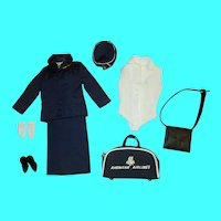 Japanese Exclusive Barbie Pan American Stewardess Navy Blue Variation PAN AM