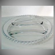 Large Vintage Elegant Imperial Glass Candlewick Crystal Glass Relish Tray~#400/56~MINT