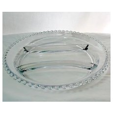 Large Vintage Elegant Imperial Candlewick Crystal Glass Relish Tray~#400/56~MINT