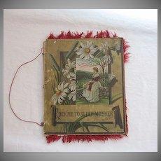 Rare Vintage19th Century Poem Book Rock Me to Sleep Mother 1882