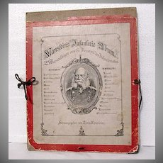 Very Rare Antique Pictorial Album  R. von Manstein Of German Military Life & Training~1800s