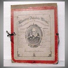 Very Rare Antique Pictorial Album  R. von Manstein Of German Military Life & Training~1800s