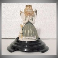 Vintage Collectible Porcelain Angel Figurine Kangaroo Signed Art Gift Corp 1958 Pray For Oceania~MINT