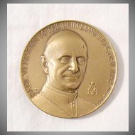 Vintage Collectible Commemorative Mission to The United Nation Bronze Medallion by Pope Paul VI October 4th, 1965