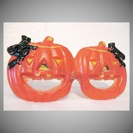 Vintage Collectible Halloween Plastic Glasses Made by Foster Grant 1950s