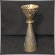 Vintage Collectible Solid Brass Dinner Prayer Zenergy Chime~1950s~Excellent Condition