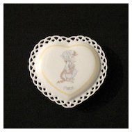 Vintage Collectible Precious Moments March Trinket Box 1988 Mint