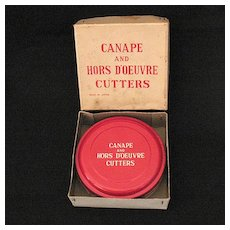 Vintage Collectible (12) Canape & Hors D'oeuvre Cutters Made in Japan 1950s Original Box Excellent Condition