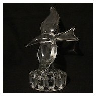 Vintage Collectible Cambridge Crystal Sea Gull Flower Frog 1930-58