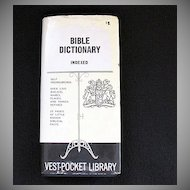 Vintage Collectible Bible Dictionary 1958 Excellent Condition