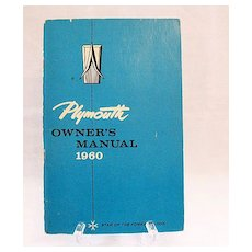 Vintage Collectible 1960 Plymouth Owner's Manual 1960 Very Good Condition