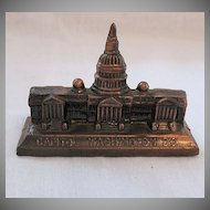 Vintage Collectible Metal Souvenir Paperweight USA Capital In Washington D.C. 1950-60s Excellent Condition