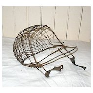 Vintage Primitive Wire Mask Calf Weaning Device Early 1900s
